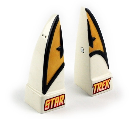 Star Trek Insignia Salt and Pepper Shakers