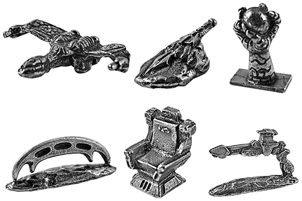Star Trek Klingon Monopoly  Game Pieces