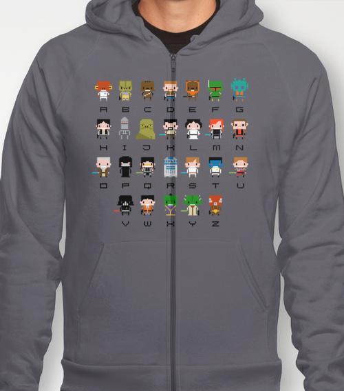 star wars alphabet hoodie