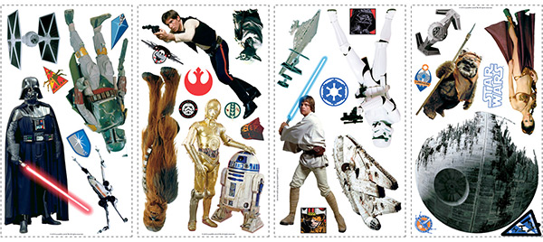 Star Wars Classic Roommates Wall Decals