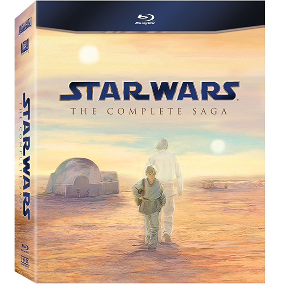 star wars the complete saga on bluray