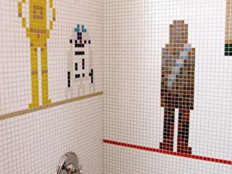 Star Wars Shower Mosaic