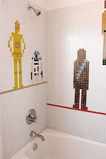 Star Wars Shower Mosaic