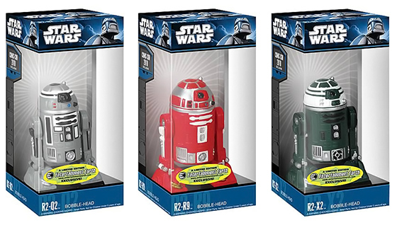Star Wars R2-Q2, R2-R9, R2-X2 Bobbleheads