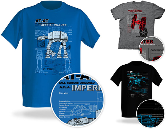 Star Wars Schematic T-Shirts