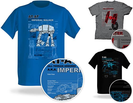 Star Wars Schematic T-Shirts