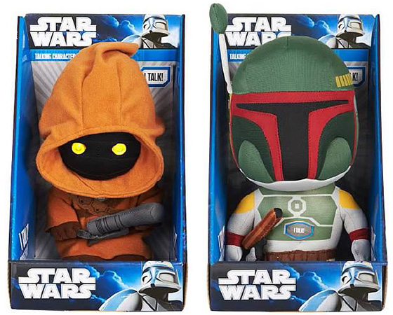 Jawa and Boba Fett Star Wars Talking Plush