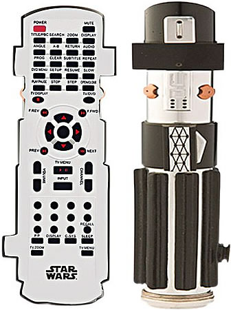 Star Wars TV/DVD Lightsaber Remote
