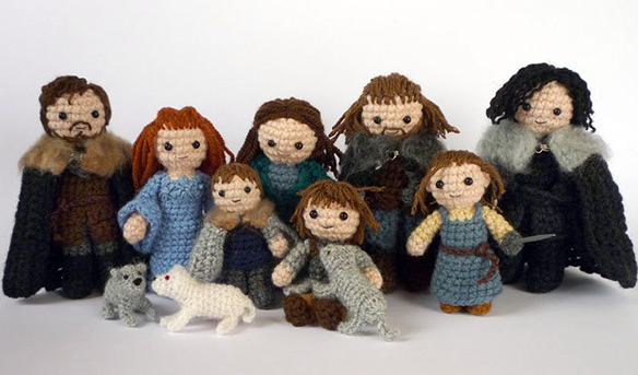 Game of Thrones Starks of Winterfell Crocheted Doll Set