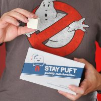 stay puft marshmallows inhand