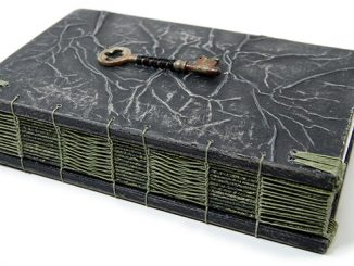 Steampunk Handmade Wooden Journal With Antique Skeleton Key