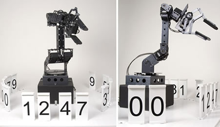 Robotic Stonehenge Digital Clock