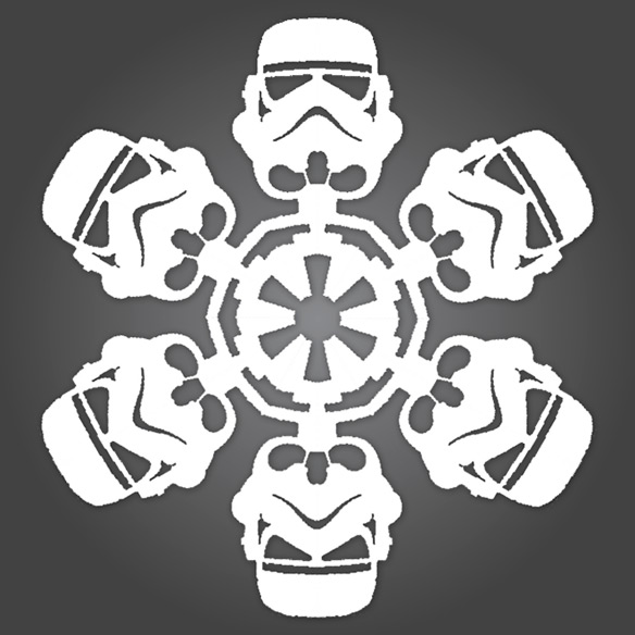 diy star wars snowflakes geekalerts. Black Bedroom Furniture Sets. Home Design Ideas