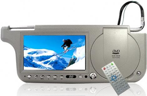 Sun Visor with Touchscreen DVD, TV and Radio