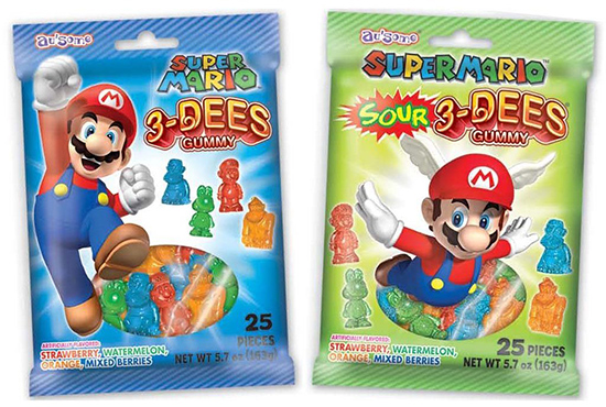Super Mario 3-Dees Gummy Candy