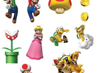 Super Mario Bros. Removable Wall Decorations