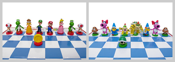 Super Mario Chess Pieces