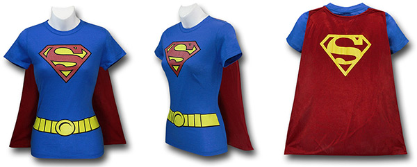 Supergirl Caped Costume Shirt