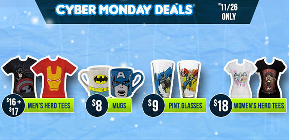 SuperHeroStuff Cyber Monday Sale