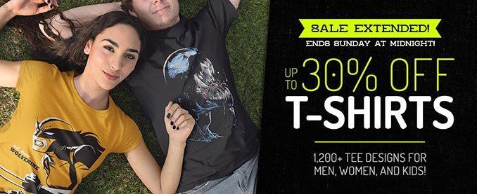 SuperHeroStuff T-Shirt Sale