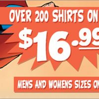 SuperHeroStuff.com T-Shirt Sale
