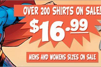 SuperHeroStuff.com T-Shirt Sale