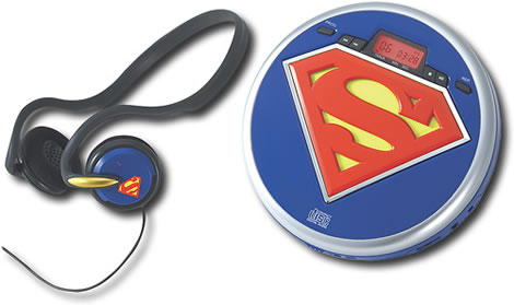Superman Portable CD Player