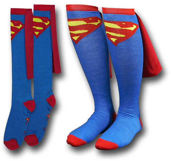 Superman Socks with Cape