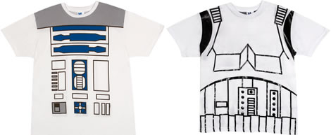 Star Wars R2-D2 and Stormtrooper Costume T-shirts
