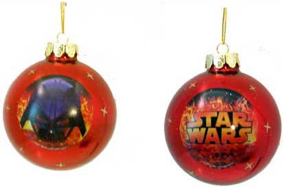 Star Wars Darth Vader Holiday Glass Ornament