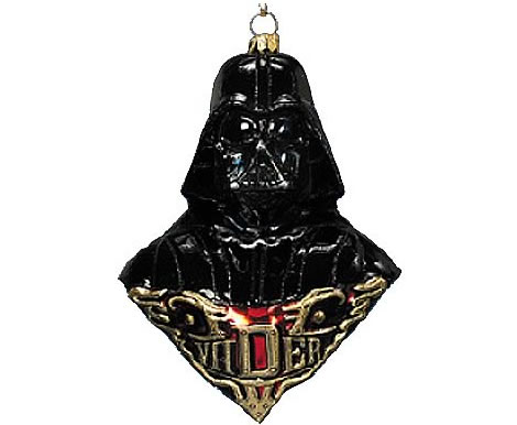 Darth Vader Polonaise Glass Ornament