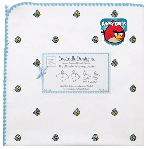SwaddleDesigns Angry Birds Receiving Blankets