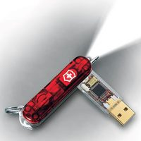 16GB Swiss Army Knife USB Drive with LED Flashlight