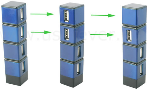USB 180° Swivel Hub
