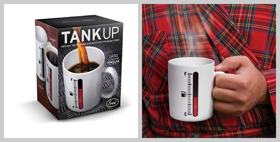 Tank Up Fuel Gauge Coffee Mug