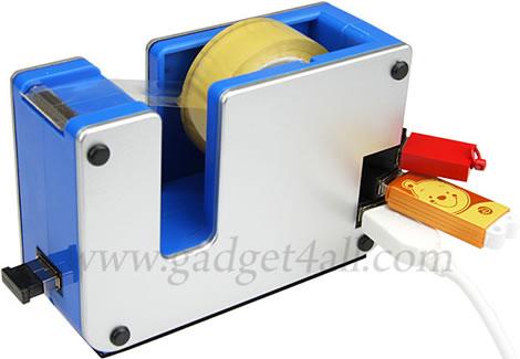 Tape Dispenser with USB 4-Port Hub