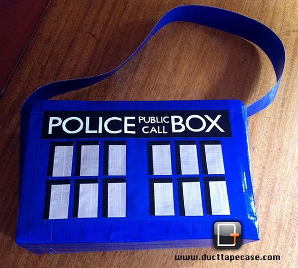 Tardis Duct Tape Bag