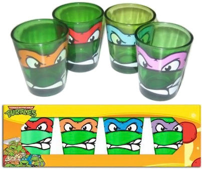 Teenage Mutant Ninja Turtles Shot Glasses