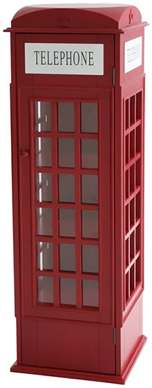 Telephone Booth Media Cabinet