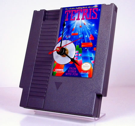 Nintendo Tetris Cartridge Clock