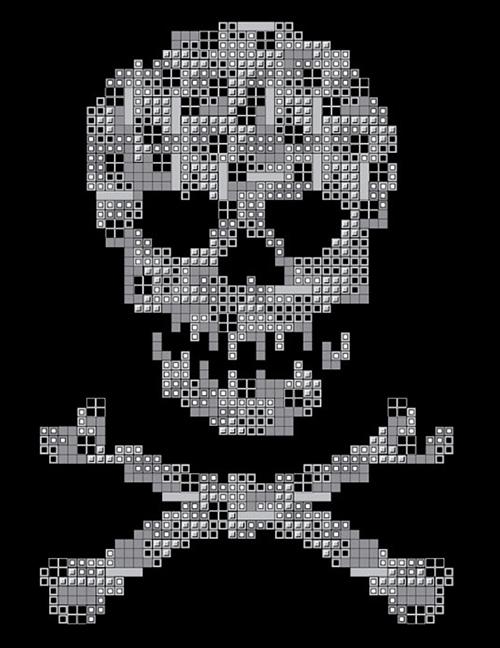 Tetris Skull Shirt