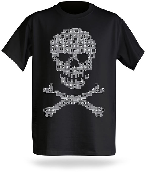 Tetris Skull and Crossbones T-Shirt