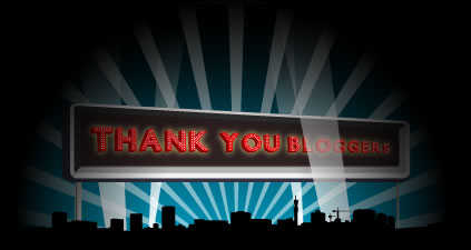 Thank you bloggers!