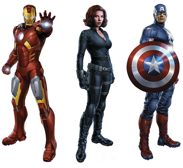 the avengers movie cardboard standups The Avengers Movie Cardboard Standups