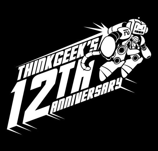 Free Think Geek 12th Anniversary T-Shirt