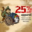 25% off Apparel at ThinkGeek