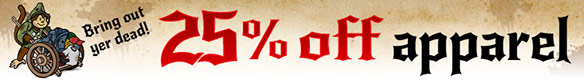 25% off Apparel at ThinkGeek