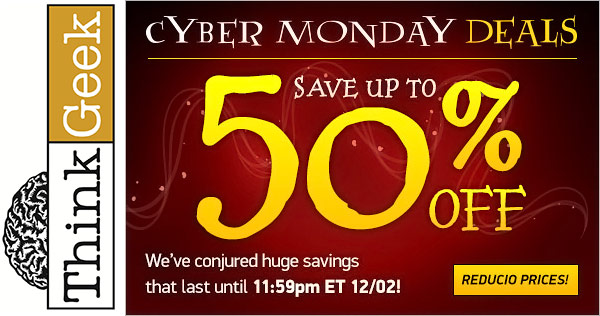 ThinkGeek Cyber Monday Deals 2013