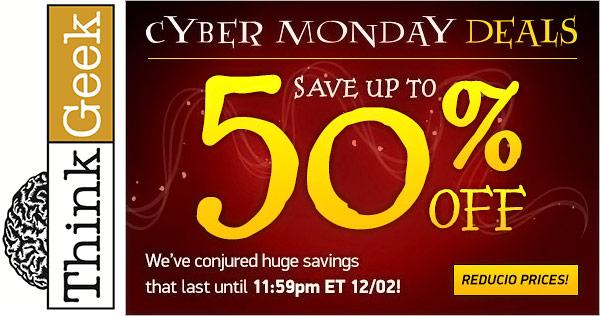 ThinkGeek Cyber Monday Deals 2013