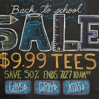Threadless $9.99 Tees Back To School Sale